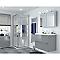 Portes de douche angle droit miroir COOKE & LEWIS Beloya 80 x 80 cm