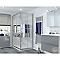 Portes de douche angle droit miroir COOKE & LEWIS Beloya 120 x 80 cm