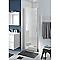 Porte de douche pivotante ouverture totale COOKE & LEWIS Beloya transparente 80 cm