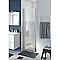 Porte de douche pivotante ouverture totale COOKE & LEWIS Beloya miroir 70 cm