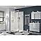 Porte de douche pivotante COOKE & LEWIS Beloya transparente 120 cm