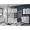 Porte de douche pivotante COOKE & LEWIS Beloya miroir 120 cm