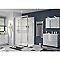 Porte de douche coulissante GoodHome Beloya transparente 120 cm