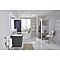 Porte de douche coulissante COOKE & LEWIS Beloya miroir 120 cm