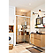 Receveur de douche à poser rectangulaire recoupable résine minérale noire Cooke & Lewis Piro 80 x 120 cm