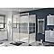Porte de douche coulissante COOKE & LEWIS Beloya miroir 160 cm