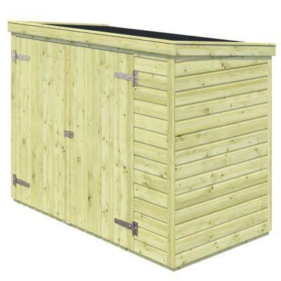 Abri à vélos bois Blooma Sepik 1,51 m² ép.16 mm | Castorama
