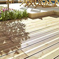 Lame de terrasse épicéa marron Blooma Nevou L.240 x l.14,4 cm