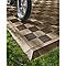 Dalle de terrasse composite marron Blooma Angara 40 x 40 cm