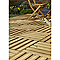 Dalle de terrasse pin marron Blooma Brantas 50 x 50 cm