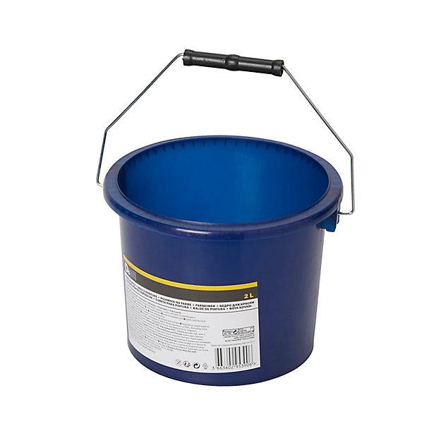 Seau A Peinture Plastique Bleu Diall O19 Cm 2l Castorama