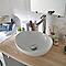 Vasque à poser ovale céramique blanche GoodHome Nessa