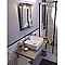 Vasque à poser rectangulaire céramique blanche COOKE & LEWIS Morfa