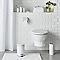 Dérouleur de papier toilette en métal blanc Diani