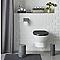 Dérouleur de papier toilette en métal gris Diani