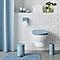 Dérouleur de papier toilette en métal bleu Diani
