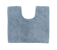 Tapis de bain antidérapant bleu 50 x 45 cm Diani