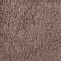 Tapis de bain antidérapant taupe 50 x 80 cm Diani