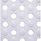 Tapis de bain antidérapant blanc 50 x 50 cm