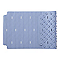 Tapis de bain antidérapant bleu 40 x 70 cm Drina