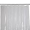 Rideau de douche en plastique PEVA argent décor pailleté L.180 x H.200 cm Nosara