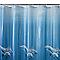 Rideau de douche en plastique PEVA multicolore décor fond marin L.180 x H.200 cm Andrano
