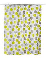 Rideau de douche plastique Peva multicolore décor points 180 x 200 cm Suru