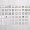 Rideau de douche en plastique PEVA blanc décor argent L.180 x H.200 cm Nakina