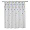 Rideau de douche en plastique PEVA multicolore décor étoilé L.180 x H.200 cm Bhama