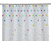 Rideau de douche plastique Peva multicolore décor étoilé 180 x 200 cm Bhama