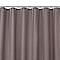 Rideau de douche en tissu taupe uni L.180 x H.200 cm Diani