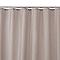 Rideau de douche en tissu galet uni L.180 x H.200 cm Diani