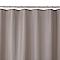Rideau de douche en tissu taupe L.180 x H.200 cm Cecina