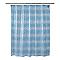 Rideau de douche en plastique PEVA bleu décor bulle L.180 x H.200 cm Zuari
