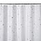 Rideau de douche en tissu blanc décor étoilé L.180 x H.200 cm Drawa