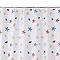Rideau de douche en tissu multicolore décor étoile de mer L.180 x H.200 cm Andrano
