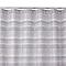 Rideau de douche en tissu taupe L.180 x H.200 cm Amaradia