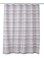 Rideau de douche tissu bleu 180 x 200 cm Amaradia