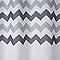 Rideau de douche tissu multicolore décor chevron L.180 x H.200 cm Tigoda