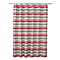 Rideau de douche tissu rouge 180 x 200 cm Navesti