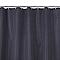 Rideau de douche en tissu noir L.180 x H.200 cm Wista