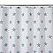 Rideau de douche tissu blanc décor étoilé L.180 x H.200 cm Crinnis