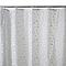 Rideau de douche en plastique PEVA blanc décor boule de neige L.180 x H.200 cm Hiuchi