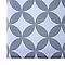 Store enrouleur tamisant COLOURS Halo motifs blanc et gris 75 x 195 cm