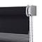 Store enrouleur COLOURS Elin jour nuit gris 90 x 180 cm