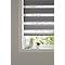 Store enrouleur COLOURS Elin jour nuit gris 160 x 180 cm
