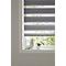 Store enrouleur COLOURS Elin jour nuit gris 45 x 180 cm