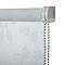 Store enrouleur Colours Azzuro polyester blanc fleurs 90 x 195 cm
