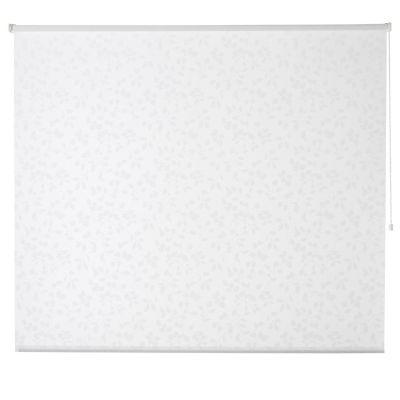 Store enrouleur Colours Azzuro polyester blanc fleurs 180 x 195 cm