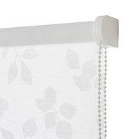 Store enrouleur Colours Azzuro polyester blanc fleurs 40 x 195 cm